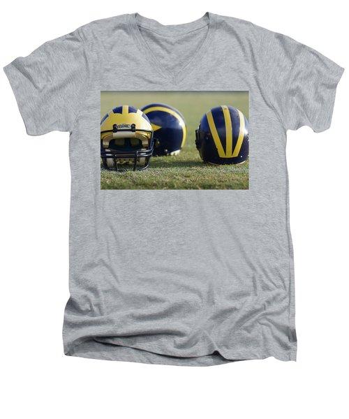 Three Wolverine Helmets Men's V-Neck T-Shirt