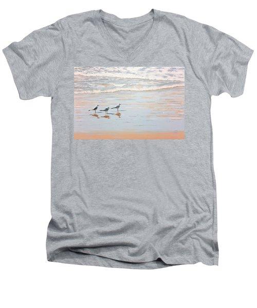 Three's A Crowd Men's V-Neck T-Shirt
