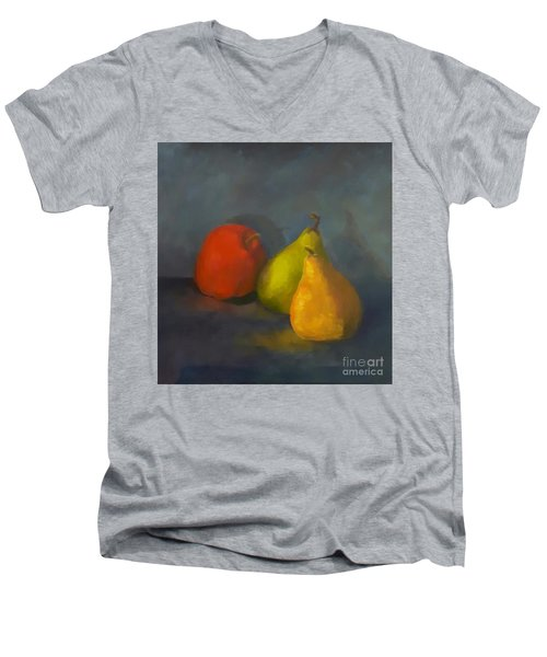 Three's A Crowd Men's V-Neck T-Shirt