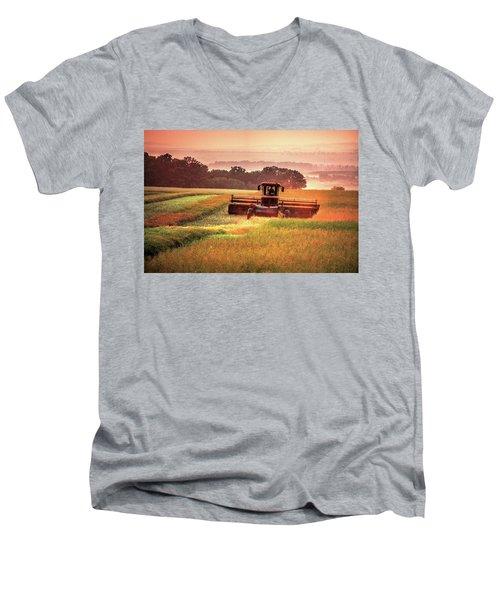 Swathing On The Hill Men's V-Neck T-Shirt
