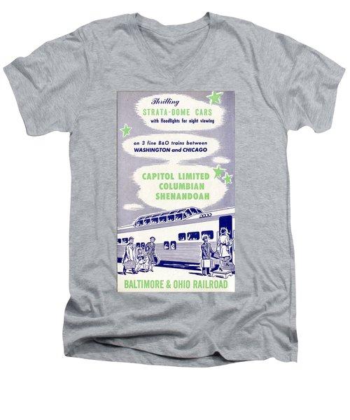 Thrilling Strata-dome Cars Men's V-Neck T-Shirt