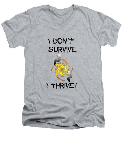 Thrive Men's V-Neck T-Shirt by Judi Saunders