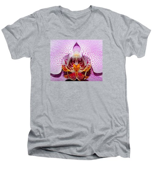 Throat Of An Orchid Men's V-Neck T-Shirt