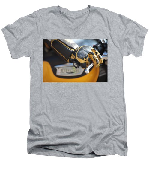Throttle Hand Men's V-Neck T-Shirt
