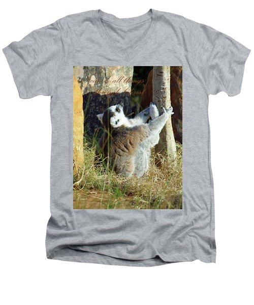 Through Christ Men's V-Neck T-Shirt