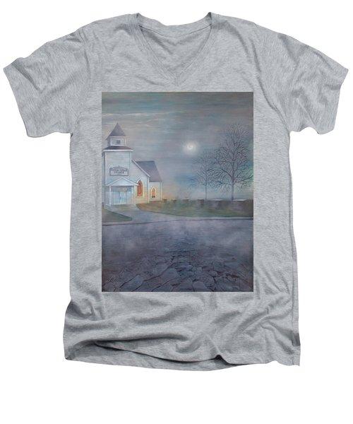 Through The Fog Men's V-Neck T-Shirt by T Fry-Green