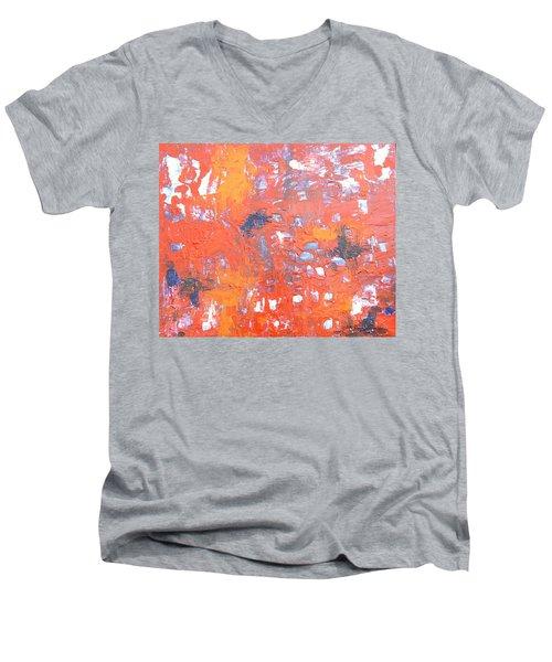 Through The Gaps Men's V-Neck T-Shirt