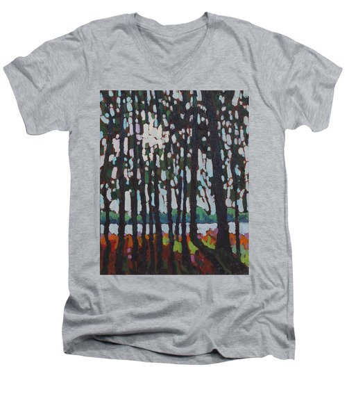 Through The Opinicon Forest Men's V-Neck T-Shirt