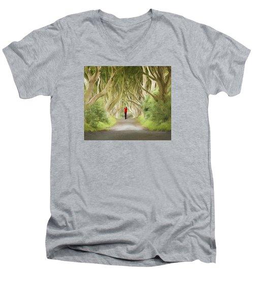 Through The Trees Men's V-Neck T-Shirt by Roy  McPeak