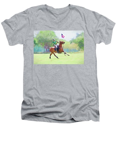 Men's V-Neck T-Shirt featuring the photograph Throw In by Alice Gipson