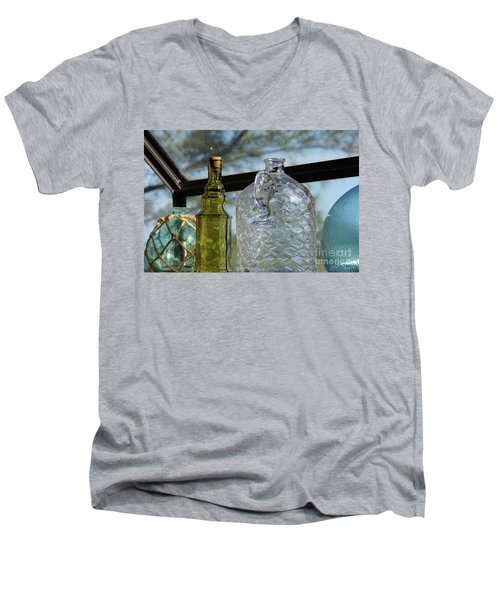 Thru The Looking Glass 2 Men's V-Neck T-Shirt by Megan Cohen