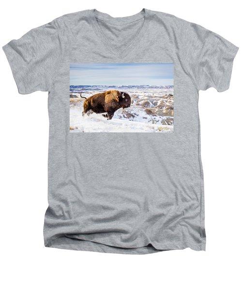 Thunder In The Snow Men's V-Neck T-Shirt
