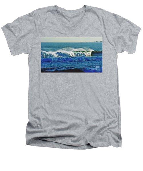 Thunder Of The Waves Men's V-Neck T-Shirt