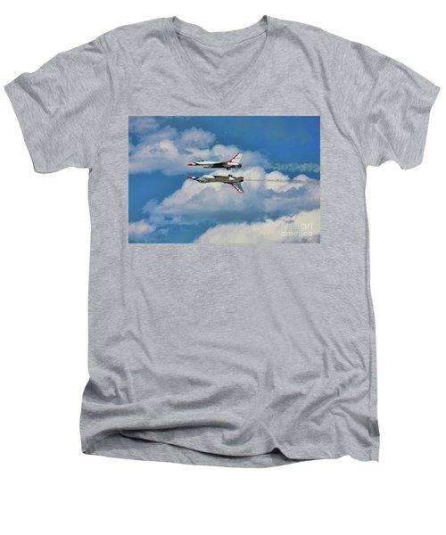 Thunderbirds Inverted Men's V-Neck T-Shirt