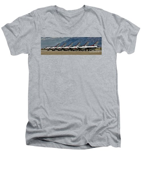 Thunderbirds Ready Men's V-Neck T-Shirt