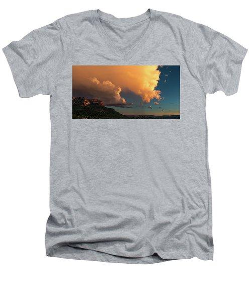 Thunderhead In Sedona Men's V-Neck T-Shirt