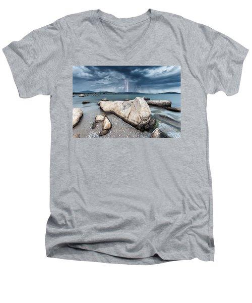 Thunderstorm  Men's V-Neck T-Shirt