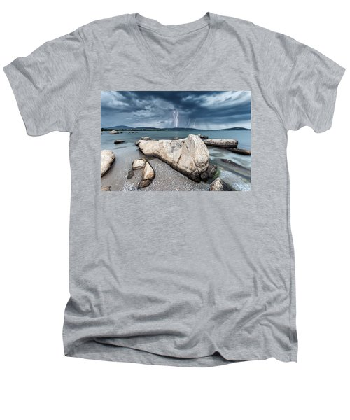 Thunderstorm  Men's V-Neck T-Shirt