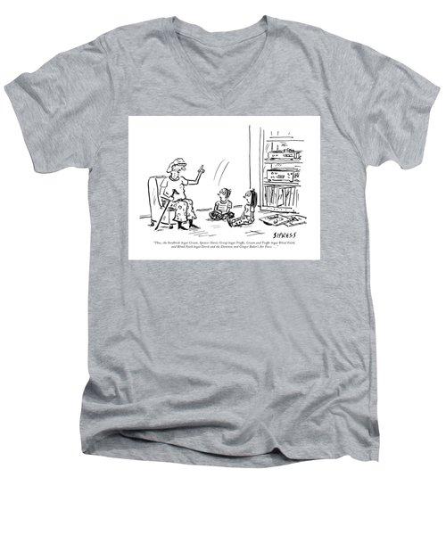 Thus The Yardbirds Begat Cream Men's V-Neck T-Shirt