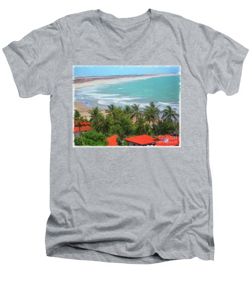 Tiabia, Brazil Beach Men's V-Neck T-Shirt