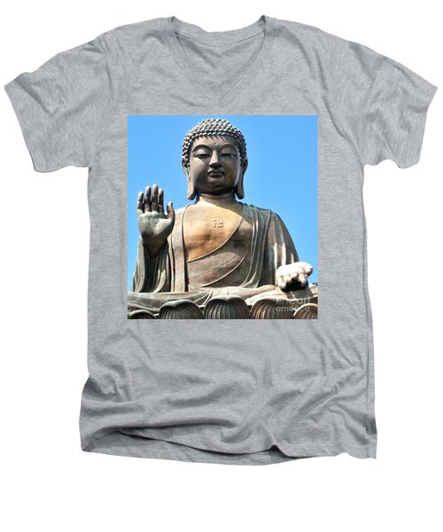 Tian Tan Buddha Men's V-Neck T-Shirt