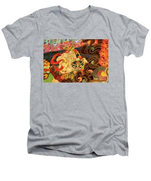 Tibet_162-12 Men's V-Neck T-Shirt