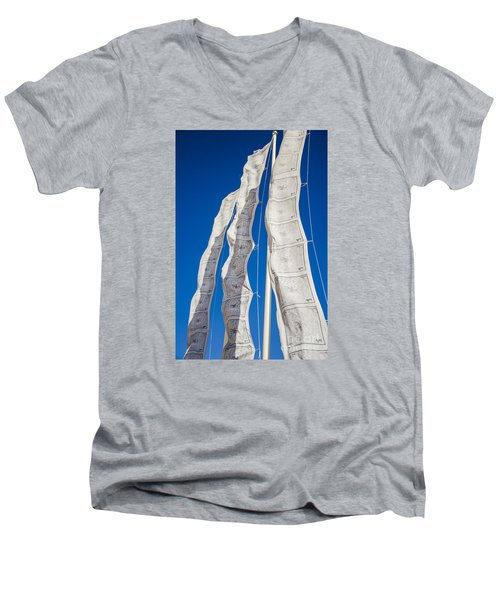 Tibetan Prayer Flags Men's V-Neck T-Shirt by Perry Van Munster