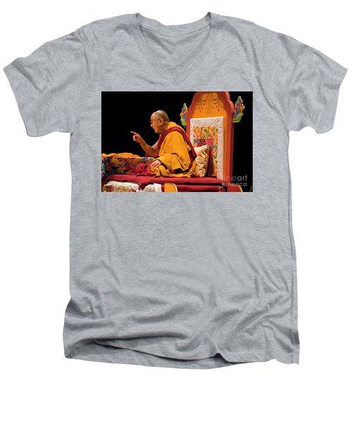 Tibetan_d149 Men's V-Neck T-Shirt