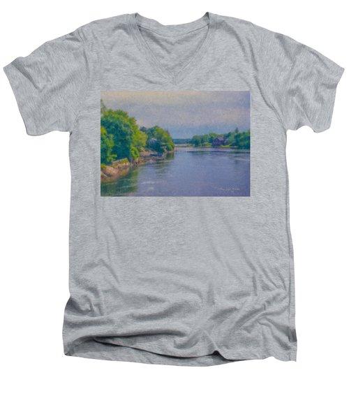 Tidal Inlet In Southern Maine Men's V-Neck T-Shirt