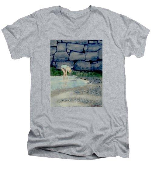 Tidal Pool Treasures Men's V-Neck T-Shirt by Anthony Ross