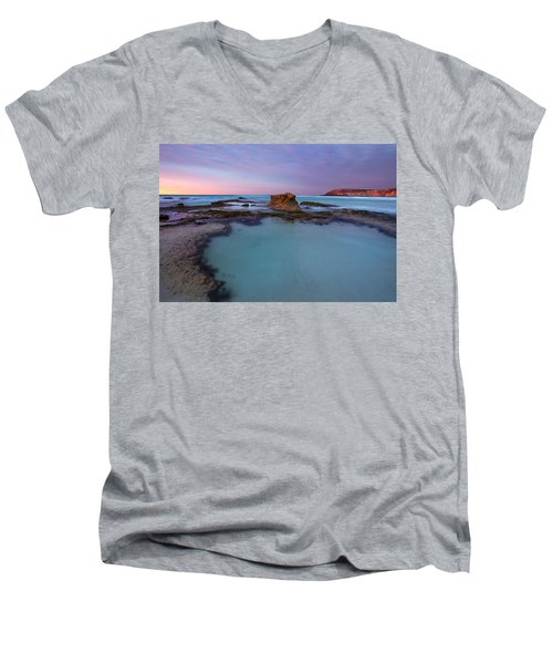 Tidepool Dawn Men's V-Neck T-Shirt by Mike  Dawson