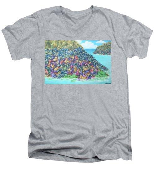 Tidepools Men's V-Neck T-Shirt