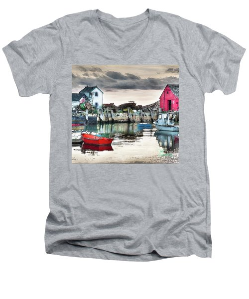 Men's V-Neck T-Shirt featuring the photograph Tide's Out by Tom Cameron