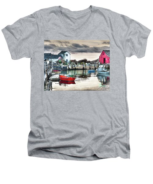 Tide's Out Men's V-Neck T-Shirt