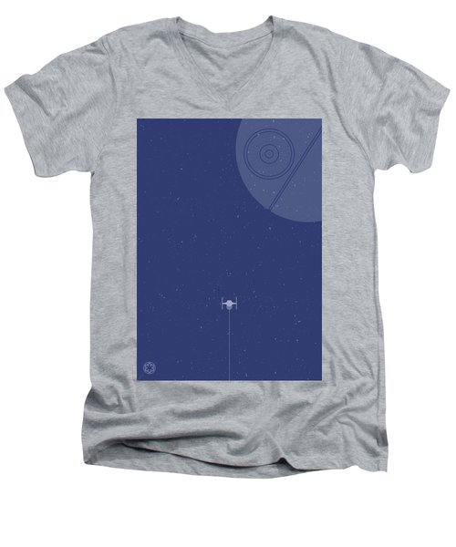 Tie Fighter Defends The Death Star Men's V-Neck T-Shirt