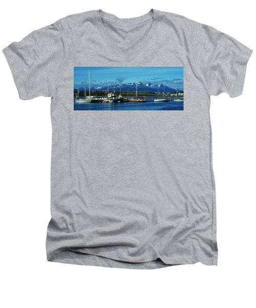 Tierra Del Fuego Men's V-Neck T-Shirt by Juergen Weiss