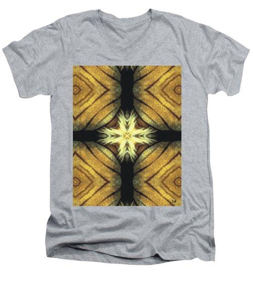 Tiger Cross Men's V-Neck T-Shirt by Maria Watt
