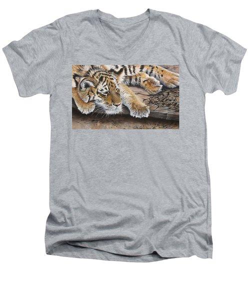 Tiger Cub Men's V-Neck T-Shirt