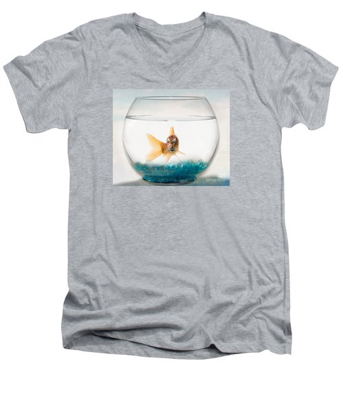 Tiger Fish Men's V-Neck T-Shirt by Juli Scalzi