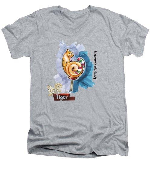 Tiger Horoscope Men's V-Neck T-Shirt