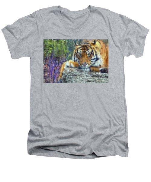 Tigerland Men's V-Neck T-Shirt by Michael Cleere