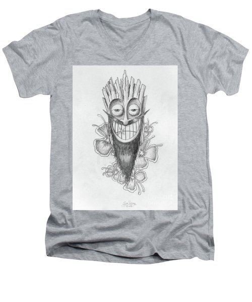 Tiki  Men's V-Neck T-Shirt