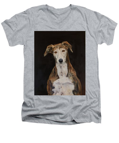 Tilly The Lurcher Men's V-Neck T-Shirt