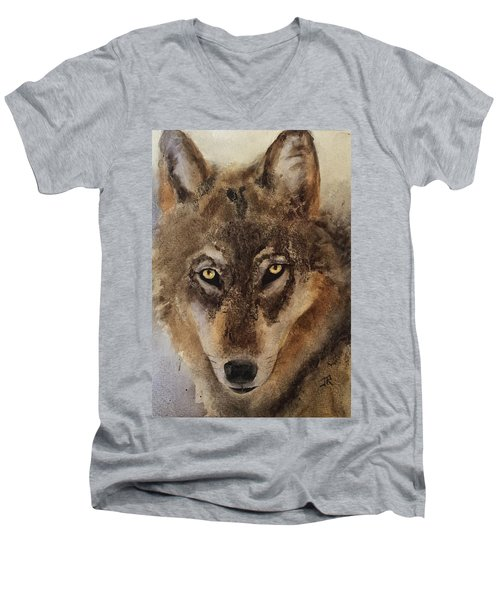 Timber Wolf Men's V-Neck T-Shirt