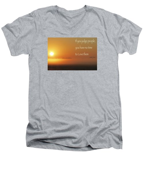 Men's V-Neck T-Shirt featuring the photograph Time Adusted by David Norman