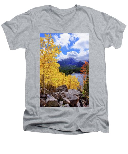 Men's V-Neck T-Shirt featuring the photograph Time by Chad Dutson