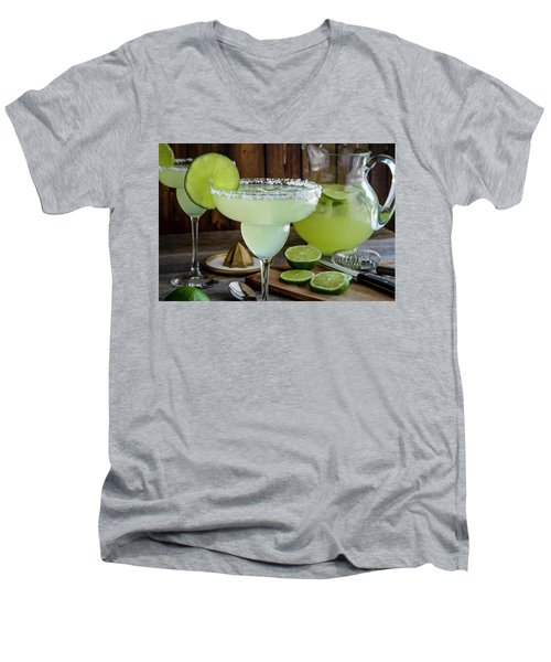 Men's V-Neck T-Shirt featuring the photograph Time For Margaritas by Teri Virbickis