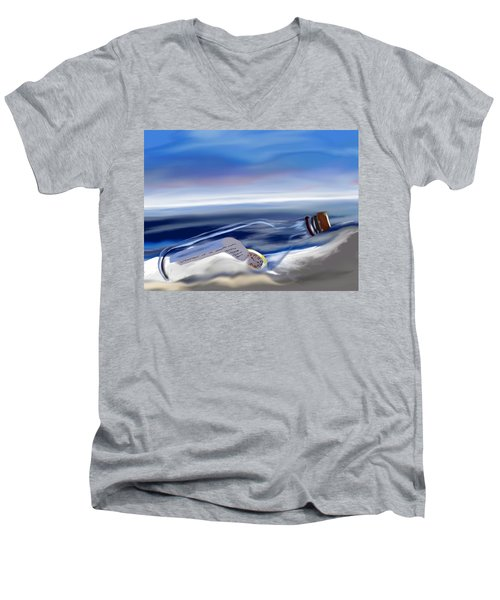 Time In A Bottle Men's V-Neck T-Shirt