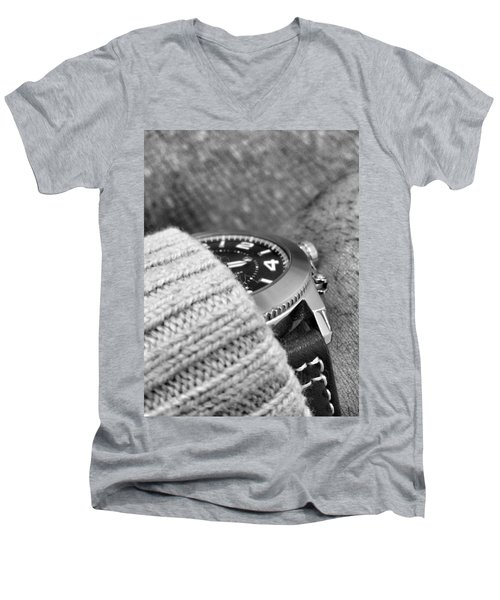 Men's V-Neck T-Shirt featuring the photograph Time Machine by Robert Knight