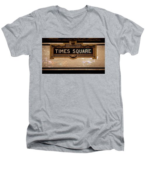 Time Square Men's V-Neck T-Shirt
